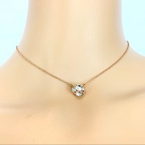 Kate Spade Lady Marmalade rose gold necklace